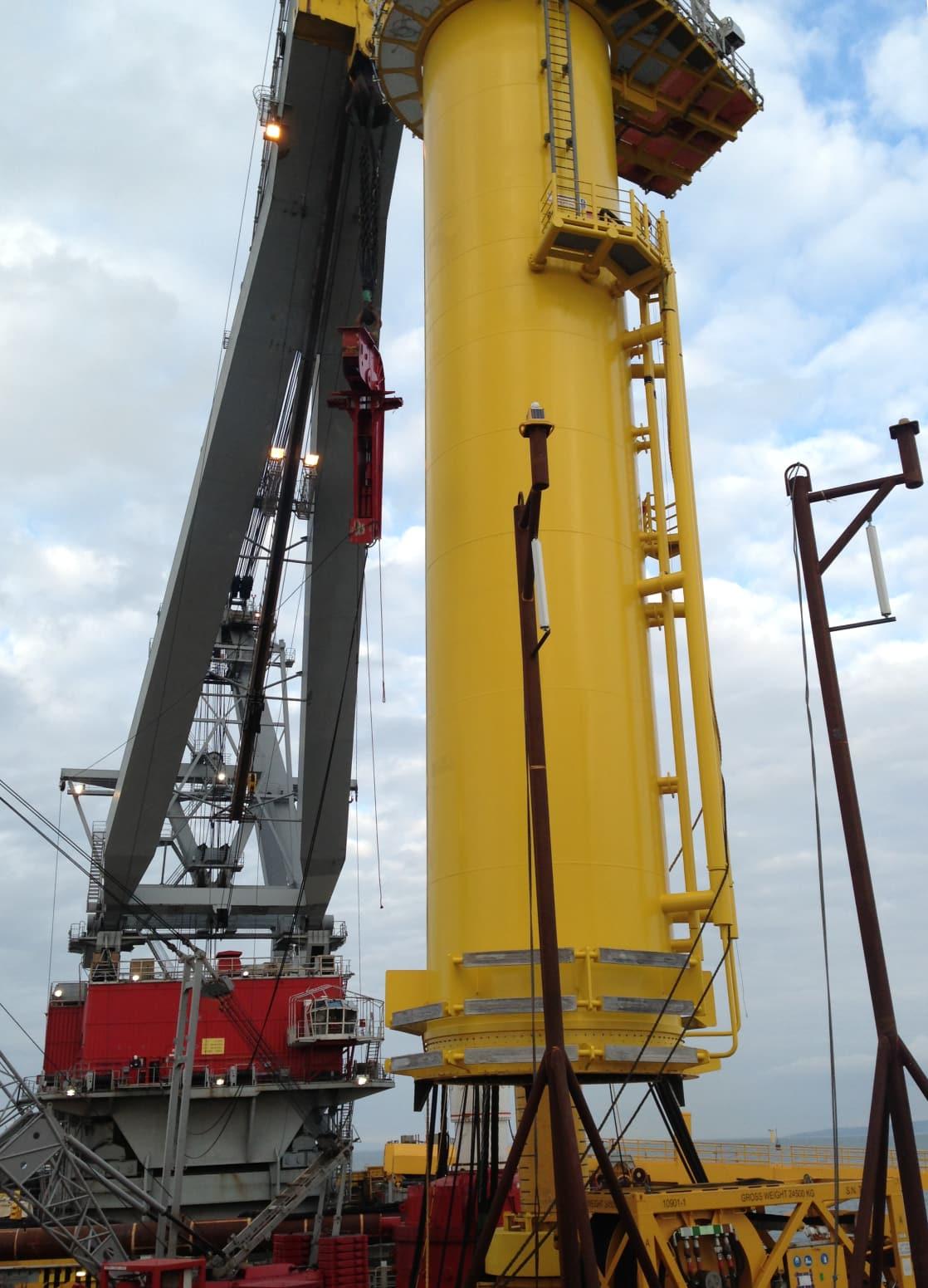 Offshore wind transition piece installation