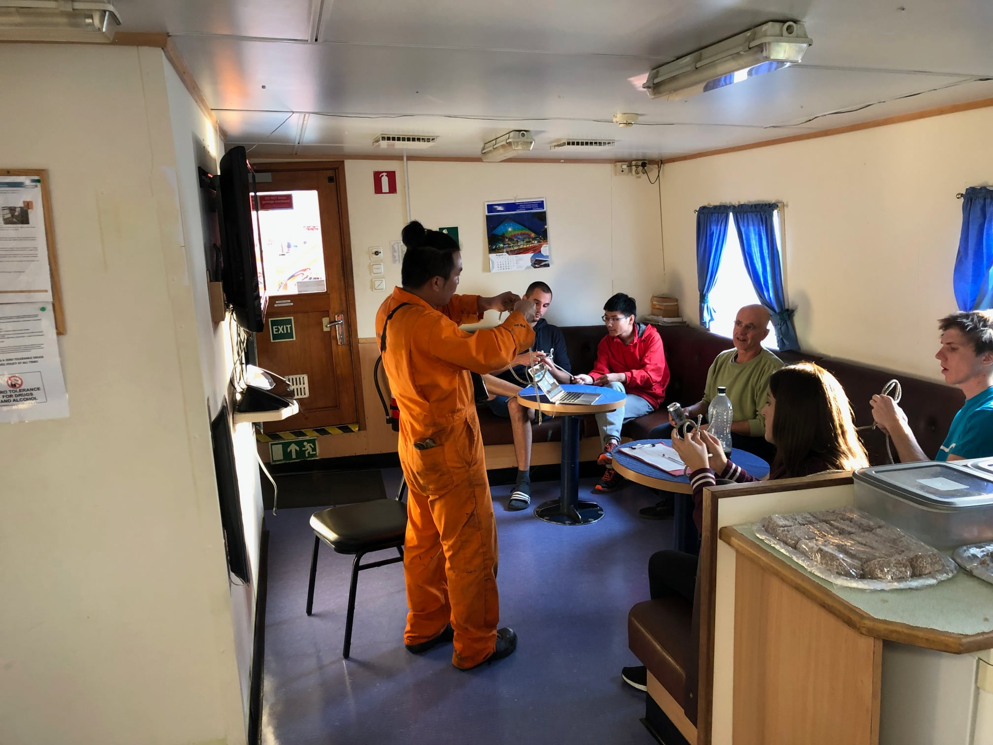 Training on board